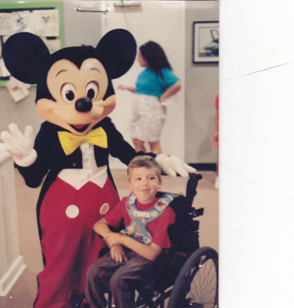 Scott Drotar and Mickey Mouse