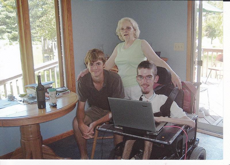 Ryan Drotar, my grandmother, and Scott Drotar