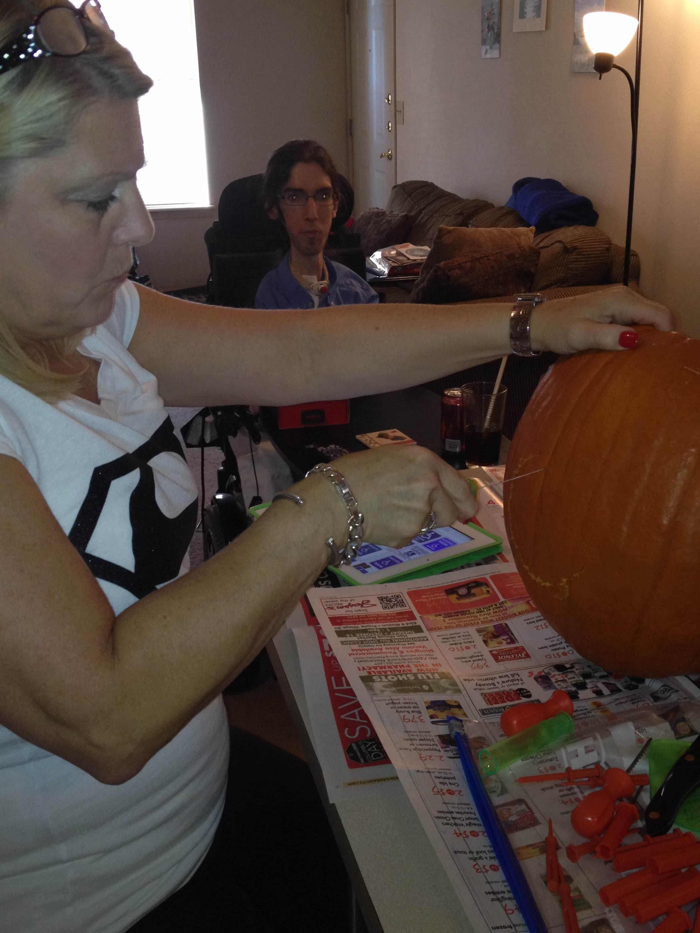 Scott Drotar Carving Pumpkins